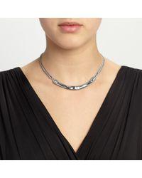 John Lewis - Metallic Hammered Bar Necklace - Lyst
