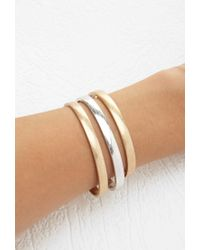Forever 21 | Metallic Etched Cuff Bracelet Set | Lyst