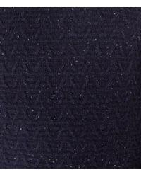 Reiss - Blue Montague Textured Fleck Jumper for Men - Lyst