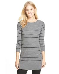 Caslon | Gray Rib Knit Tunic Sweater | Lyst