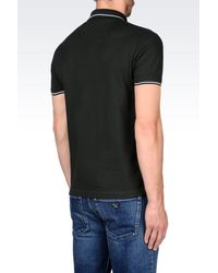 Emporio Armani - Green T-shirt In Cotton Pique for Men - Lyst