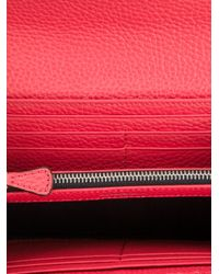 Emporio Armani - Red Logo Embossed Wallet - Lyst
