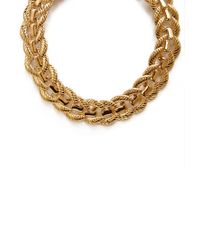 Forever 21 - Metallic Sleek Chain-Link Collar Necklace - Lyst