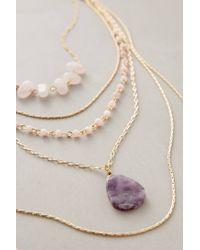Anthropologie | Purple Violett Layer Necklace | Lyst