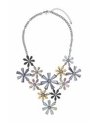 TOPSHOP | Multicolor Faceted Flower Statement Collar | Lyst