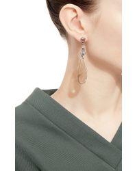 Bochic - Multicolor Agate And Diamond Drop Earrings - Lyst