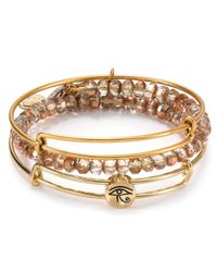 ALEX AND ANI | Metallic Exclusive Eye Of Horus Bracelets Set Of 3 | Lyst