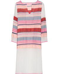 lemlem | Pink Makeda Cotton-Blend Gauze Kaftan | Lyst
