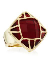 Kendra Scott | Ruthie Cage Ring Red Size 7 | Lyst