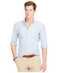 Polo Ralph Lauren - Blue Slim-fit Stretch-oxford Shirt for Men - Lyst