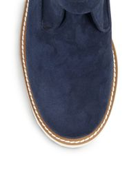 Stella McCartney - Blue Faux Suede Ankle Boots - Lyst