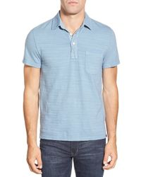 Faherty Brand | Blue Trim Fit Cotton Polo for Men | Lyst