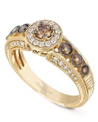 Le Vian | Metallic White And Chocolate Diamond Engagement Ring (7/8 Ct. T.w.) In 14k Gold | Lyst