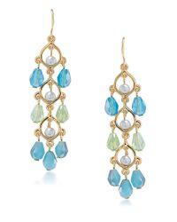Carolee | Blue Niagara Mist Linear Drop Earrings | Lyst
