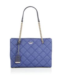 kate spade new york - Blue Emerson Place Phoebe Small Quilted Denim Tote - Lyst
