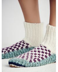 Free People - Purple Ariana Bohling Womens Handknit Ii Alpaca Slipper - Lyst