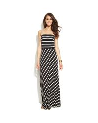 INC International Concepts - Black Strapless Striped Maxi Dress - Lyst