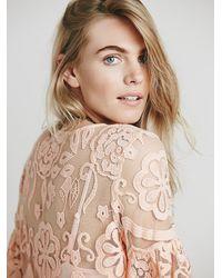 Free People - Pink El Sol Mini Dress - Lyst
