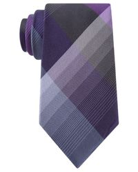 Kenneth Cole Reaction | Purple Skyline Plaid Tie for Men | Lyst