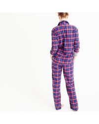 J.Crew | Multicolor Sparkle Plaid Flannel Pajama Set | Lyst