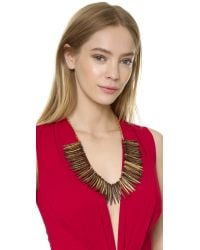 Kenneth Jay Lane | Metallic Tribal Necklace - Gold Multi | Lyst