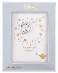 Disney - Metallic Aladdin Genie Lamp Pendant Necklace In Sterling Silver - Lyst