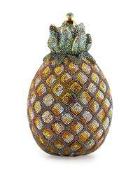 Judith Leiber Couture | Metallic Crystal Pineapple Minaudiere | Lyst