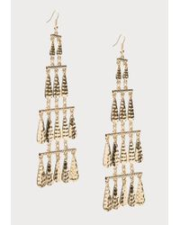 Bebe | Metallic Tiered Metal Drop Earrings | Lyst