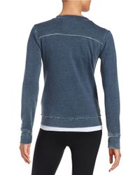 Calvin Klein | Blue Waffle Knit Sweatshirt | Lyst