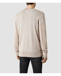 AllSaints - Brown Mode Merino Crew Sweater Usa Usa for Men - Lyst