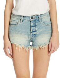 Blank | Blue Light Wash Cut-off Shorts | Lyst