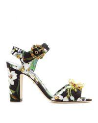 Dolce & Gabbana - Multicolor Keira Embellished Brocade Sandals - Lyst
