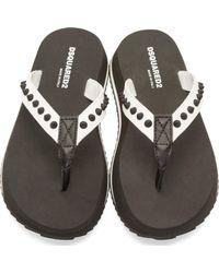 DSquared² - White Studded Sandals for Men - Lyst