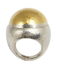 Gurhan | Metallic Silver And Gold Large Dome Ring | Lyst