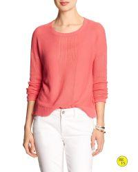 Banana Republic | Pink Factory Crew-neck Crop Sweater | Lyst