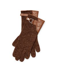 Pink Pony | Brown Belted Wool-blend Gloves | Lyst