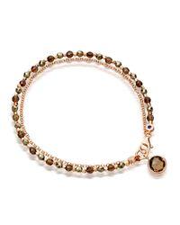 Astley Clarke - Brown Prosperity Friendship Bracelet With Pyrite & Smoky Quartz - Lyst