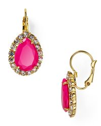 Carolee - Pink Rio Radiance Teardrop Earrings - Lyst