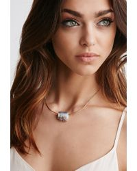 Forever 21 - Purple Luna Norte Amethyst Arc Necklace - Lyst