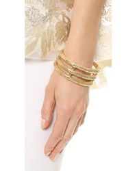 Aurelie Bidermann | Metallic Lafayette Bracelet - Gold | Lyst