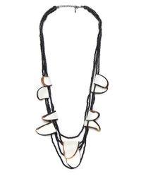 Jules B | Gray Pebble Necklace | Lyst