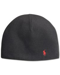 Polo Ralph Lauren | Black Thermal Beanie for Men | Lyst