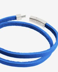Ted Baker | Blue Flat Leather Bracelet for Men | Lyst