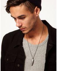 Simon Carter - Metallic Double Feather Necklace Exclusive To Asos for Men - Lyst