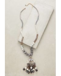 Anthropologie | Gray Indra Tassel Necklace | Lyst