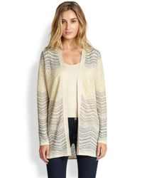 M Missoni Natural Lurex Ripple Cardigan