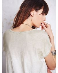 Free People - Natural We The Free Womens We The Free Thunder Moon Tee - Lyst
