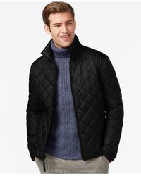 Marc New York | Black Floyd Quilted Full-zip Jacket for Men | Lyst