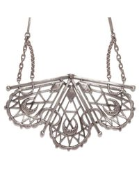 Bing Bang | Metallic Sacred Geometry Fan Necklace | Lyst