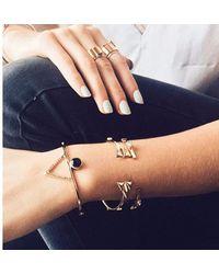Bing Bang - Metallic Double Trident Cuff - Lyst